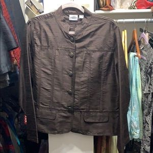 Brown Silk Chico's Jacket